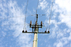 Power lines intersection Stock Image
