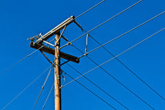 Power lines junction Stock Image