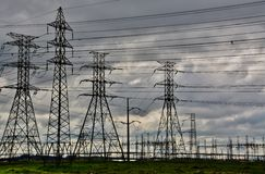 Power lines Stock Photos