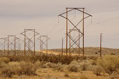 Power lines. Stock Image