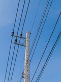 Power lines and power poles. Electric line Royalty Free Stock Photos