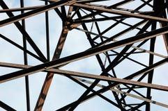 Power lines pylon, detail Royalty Free Stock Photo