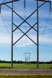 Power Lines and Pylons royalty free stock photos