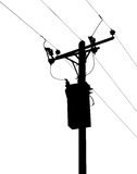 Power lines silhouette illustration Royalty Free Stock Photos