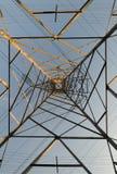 Power lines symmetry Stock Image