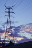 Power Lines and Tower Royalty Free Stock Photo