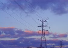 Power Lines and Towers Royalty Free Stock Images
