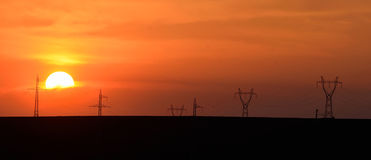 Power lines towers #11 Stock Image