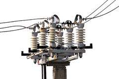 Power live insulators isolated on white background Royalty Free Stock Photos
