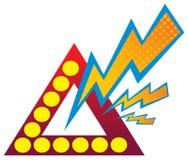 Power logo. Isolated illustrated power logo design Stock Image