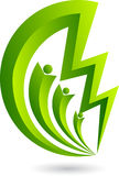 Power logo. Illustration art of a power logo with isolated background Stock Photo