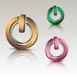 Power on logo Stock Photography