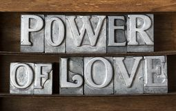 Power of love tray Royalty Free Stock Photo