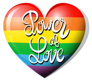 Power of love and rainbow heart Royalty Free Stock Image