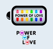 Power of love Stock Image