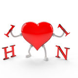 The power of love to win any virus, even H1N1. Royalty Free Stock Image