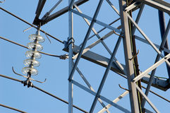Power Mast and Fixture. Power mast fixture and a part of the mast seen from side Royalty Free Stock Photography