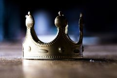 Power may be crowned, but a fake crown does not mean long-lasting power stock photography