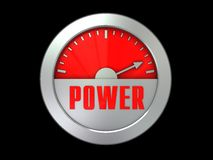 Power meter Stock Image