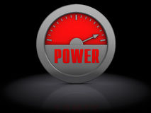 Power meter Royalty Free Stock Image