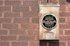 Electric Meter fixture Royalty Free Stock Images