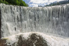 The power of a mountain waterfall Stock Photography