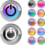 Power multicolor round button. Royalty Free Stock Photography