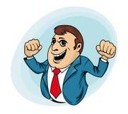Power muscular businessman Royalty Free Stock Photos