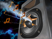 Power of music. Loudspeaker and aloud music Stock Photo