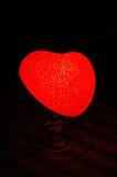 Power of my heart 3. Electric heart illuminating light Royalty Free Stock Image
