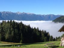 Power of nature. Come and feel the powerful nature of Slovenia - wake uo above the clouds on August 2015 Royalty Free Stock Photo