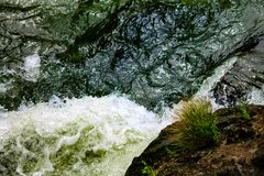 Turbulent Waters. Power of nature shown in the force of water royalty free stock image