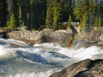 Power of nature, Wild River, Rainbow Royalty Free Stock Photo