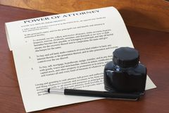Free Power Of Attorney 1 Stock Photography - 3043142