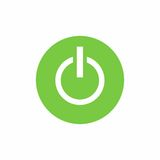 Power on/off button icon vector design Royalty Free Stock Image
