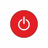 Power off red button icon vector design Stock Photography