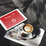 Power Off Touchscreen Display Concept Royalty Free Stock Photo