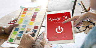 Power Off Touchscreen Display Concept royalty free stock photos
