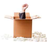 Power out of the box Royalty Free Stock Photo