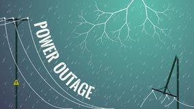 Free Power Outage. Damaged Power Line Concept Stock Photos - 163977433