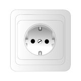 Power outlet. A power outlet. isolated object on white background Royalty Free Stock Image