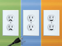 Power Outlet Cartoon Royalty Free Stock Photos