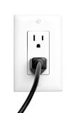 Power outlet isolated Royalty Free Stock Photo