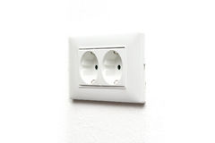 Power outlet isolated on white Royalty Free Stock Photo