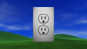 Power Outlet from the Sun stock video footage
