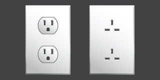 Power Outlet. In two different styles used in the USA in vector format Stock Photo
