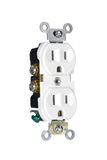 Power outlet on white Stock Photography