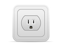 Power outlet. On a white background Stock Images