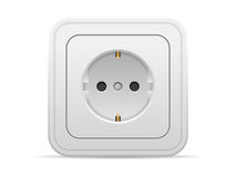 Power outlet. On a white background Royalty Free Stock Photo