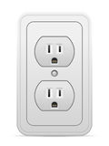 Power outlet. On a white background Stock Photos